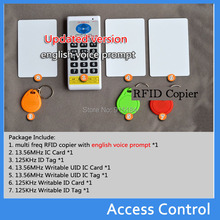 125 khz-13.56 mhz rfid id/ic nfc card reader & writer/copiatrice/programmatore + em4100/em4305/t5577/m1 s50 uid variabile tag riscrivibile(China (Mainland))