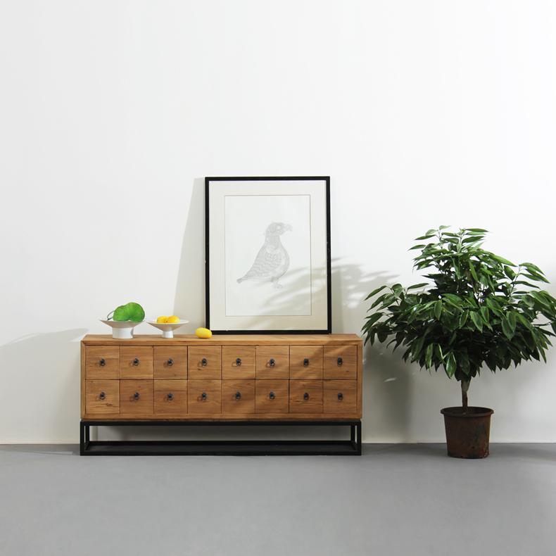 16 Drawers Tv Cabinet Modern Minimalist Combination Of