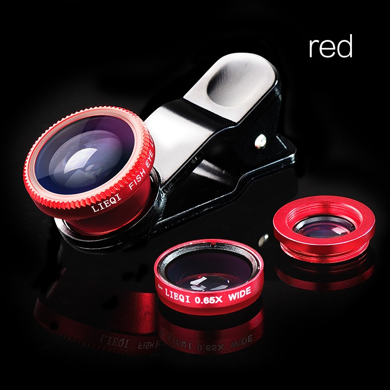Fisheye Lens 3 in 1 mobile phone clip lenses fish eye wide angle macro camera lens for iphone 6s plus huawei lenovo lentes movil