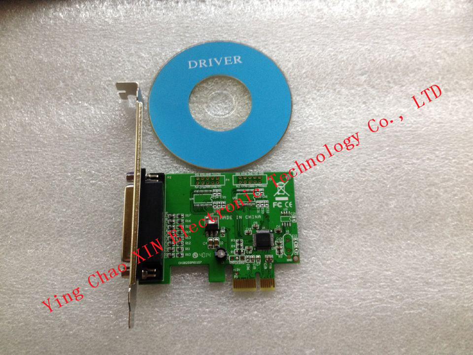 Printer DB25 Parallel Port LPT to PCI-E PCI Express Card Adapter Converter Free Shipping Brand New WCH382 Chip(China (Mainland))