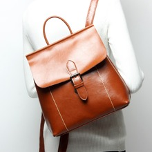 Buy Fashion Women's Backpacks Genuine Leather Women Girl Students School Bag Small Shoulder Bags Women Casual Back Packs Travel Bag for $52.36 in AliExpress store