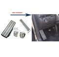 Stainless Steel Car Footrest clutch brake gas pedal Manual Transmission MT Pedal for VW Golf 5