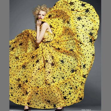 2013 European Style women summer hot fashion designer top brand 100% Chiffon Dresses,maxi long sparkle stars print evening dress - Guangzhou LoonYing Trade Co.,Ltd store