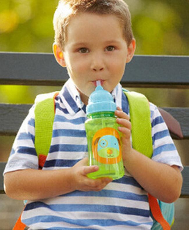 Choke cherry children cartoon animal straw cup kids water bottle drinking cup leak proof sports bottles