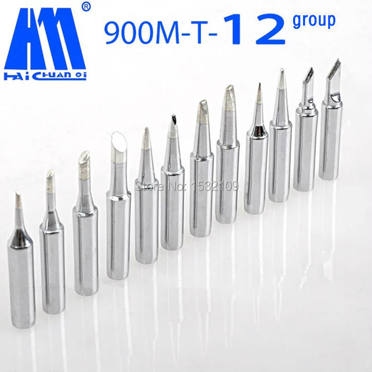 Free shipping 12 pcs /lot New Arrival Lead-free solder Iron tip 900M-T for hakko soldering rework station<br><br>Aliexpress