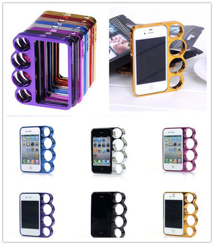 Lord Figher Rings Knuckle Style Case Cover Shell Protector For iPhone 4,4S