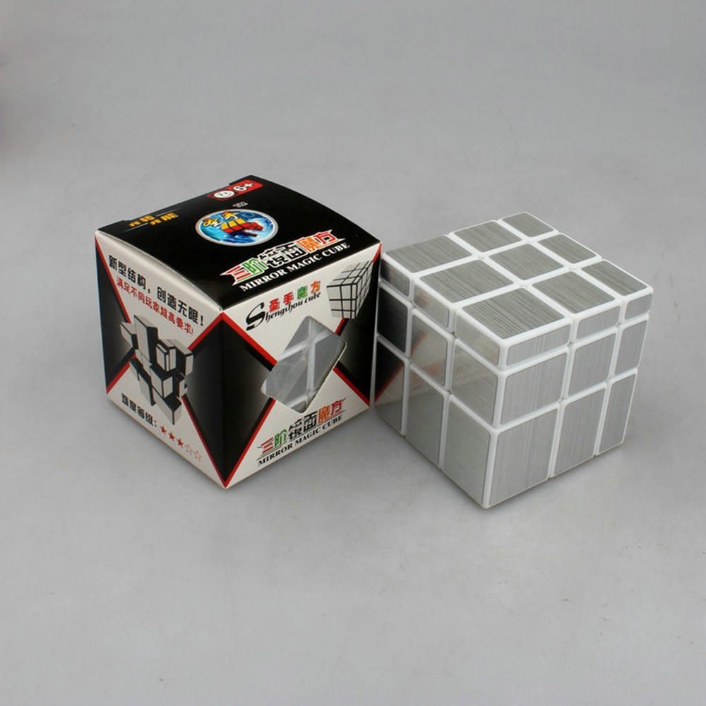 3x3x3 shengshou Magic Cube Puzzle Mirror Cubo magico 57mm Wire Drawing Style Cast Coated special toy gift for Educational(China (Mainland))