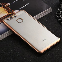 Luxury Shining Protective Case Huawei Ascend P9 Clear Soft TPU Phone Back Cover Cases Plating Gold Design - Koko Technology Co.,Ltd. store