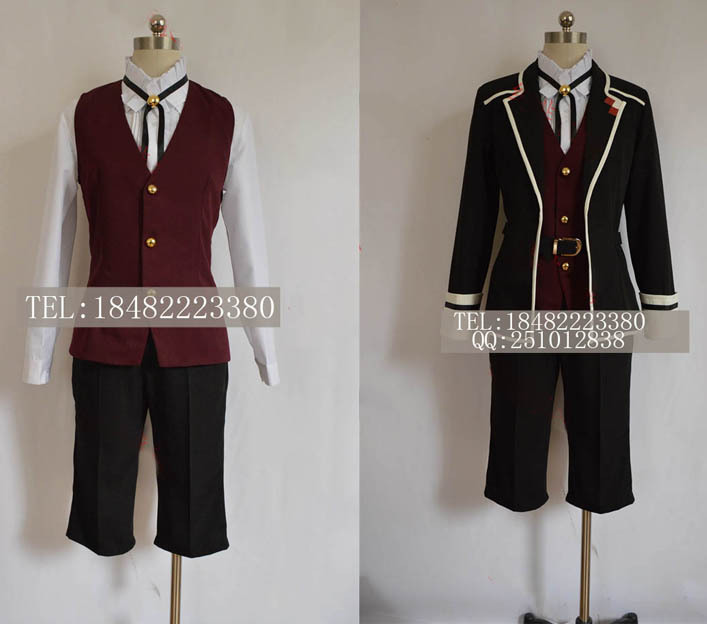Anime Cosplay Costume Diabolik Lovers Sakamaki Kanato black uniform customizedОдежда и ак�е��уары<br><br><br>Aliexpress
