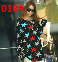 New summer clothes for pregnant women t-shirt floral print ice silk  Long sleeve loose T shirts tops Maternity Dress 8 Styles(China (Mainland))