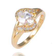 Free Shipping 1pc 18K Gold Filled Brilliant Oval Cut Cubic Zirconia Female's Beautiful party finger rings A075-B197-C078(China (Mainland))