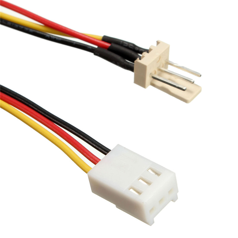 PC Computer Internal Built-in Fan Power Extension Cable 3Pin Plug Socket Cord HDD Power Adapter Cable Lead Connector Wire 32cm(China (Mainland))