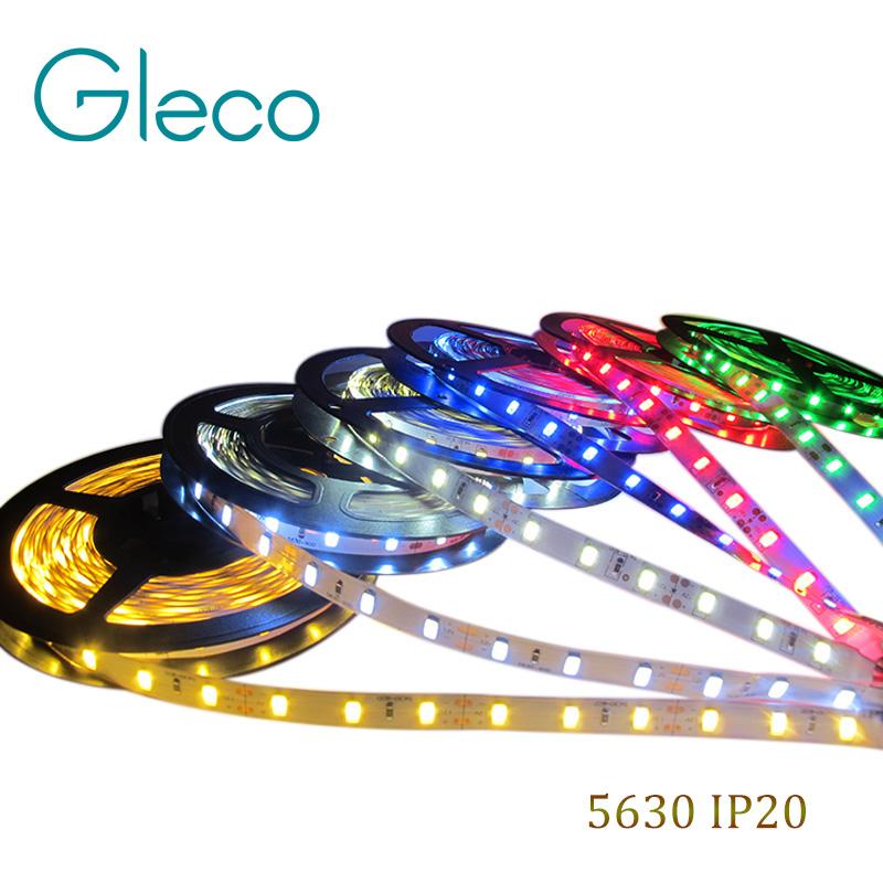 LED strip 5630 DC12V flexible light 60leds/m,5m/lot ,Warm White Red Green Blue White color,free shipping(China (Mainland))