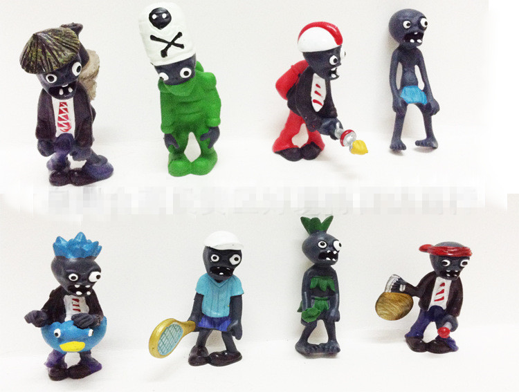 new 8pieces/lot Plants vs zombies2 pvc 8cm 8style zombies doll toys pendant Furnishing articles Childrens gift<br><br>Aliexpress