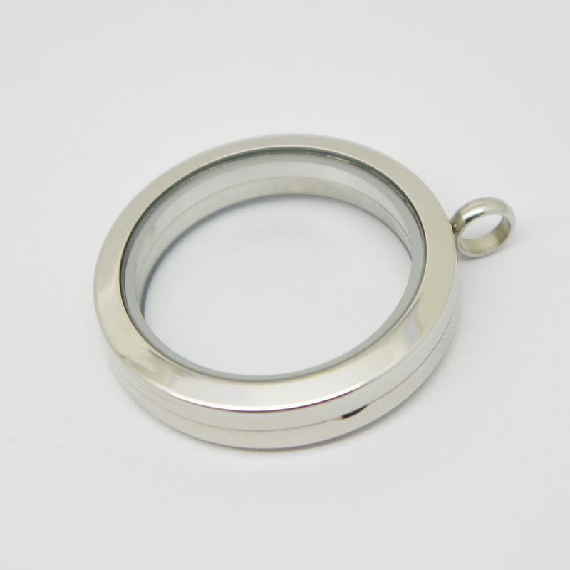 Hot sale 30mm round  magnet plain stainless steel Memory living glass locket pendant ,  glass locket floating charms for Women<br><br>Aliexpress