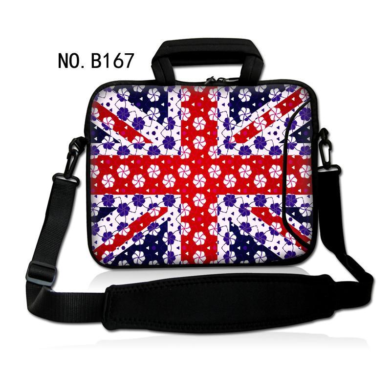 "Snow Union Jack Laptop Shoulder Bag Messenger Case Cover For 10.1"" 13.3"" 11.6"" 14' 15.6"" 17.3"" Alienware/HP(China (Mainland))"
