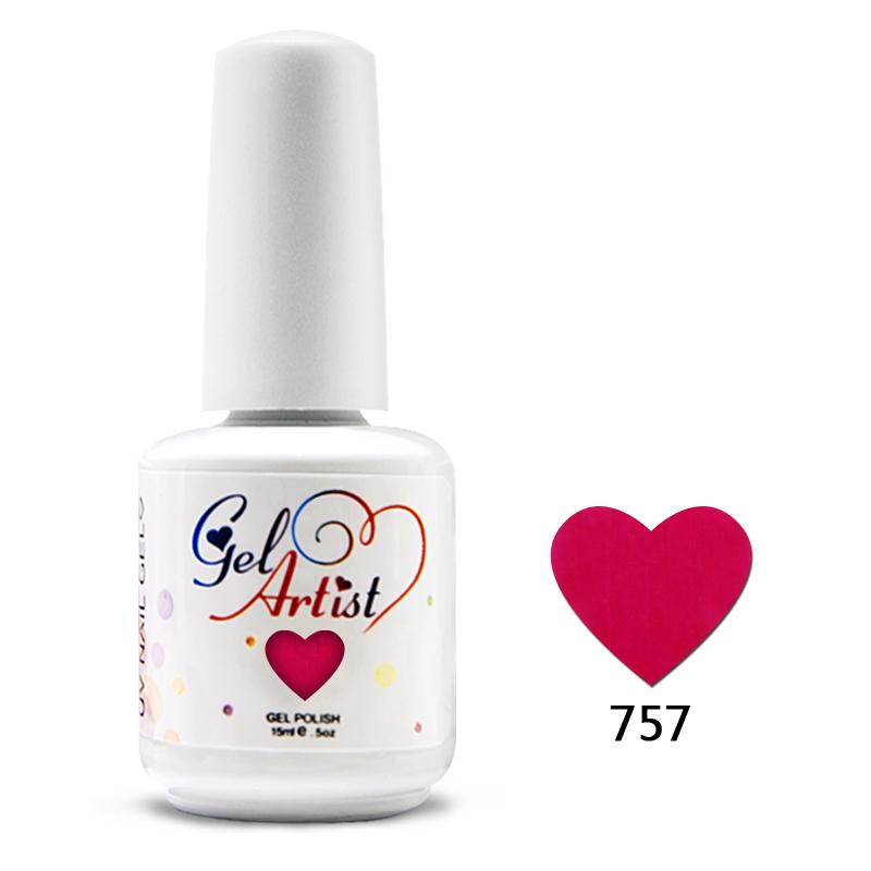 24pcs New Gelartist Soak Off Uv Nail Gel Polish 610colors (2 base+20 colors +2top) fashion color gel nails(China (Mainland))