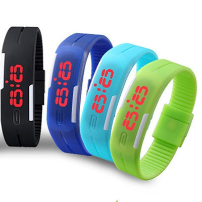 2015 New Fashion Sport LED Watch Candy Color Silicone Rubber Touch Screen Digital Watches Waterproof Wristwatch Dress Bracelet(China (Mainland))