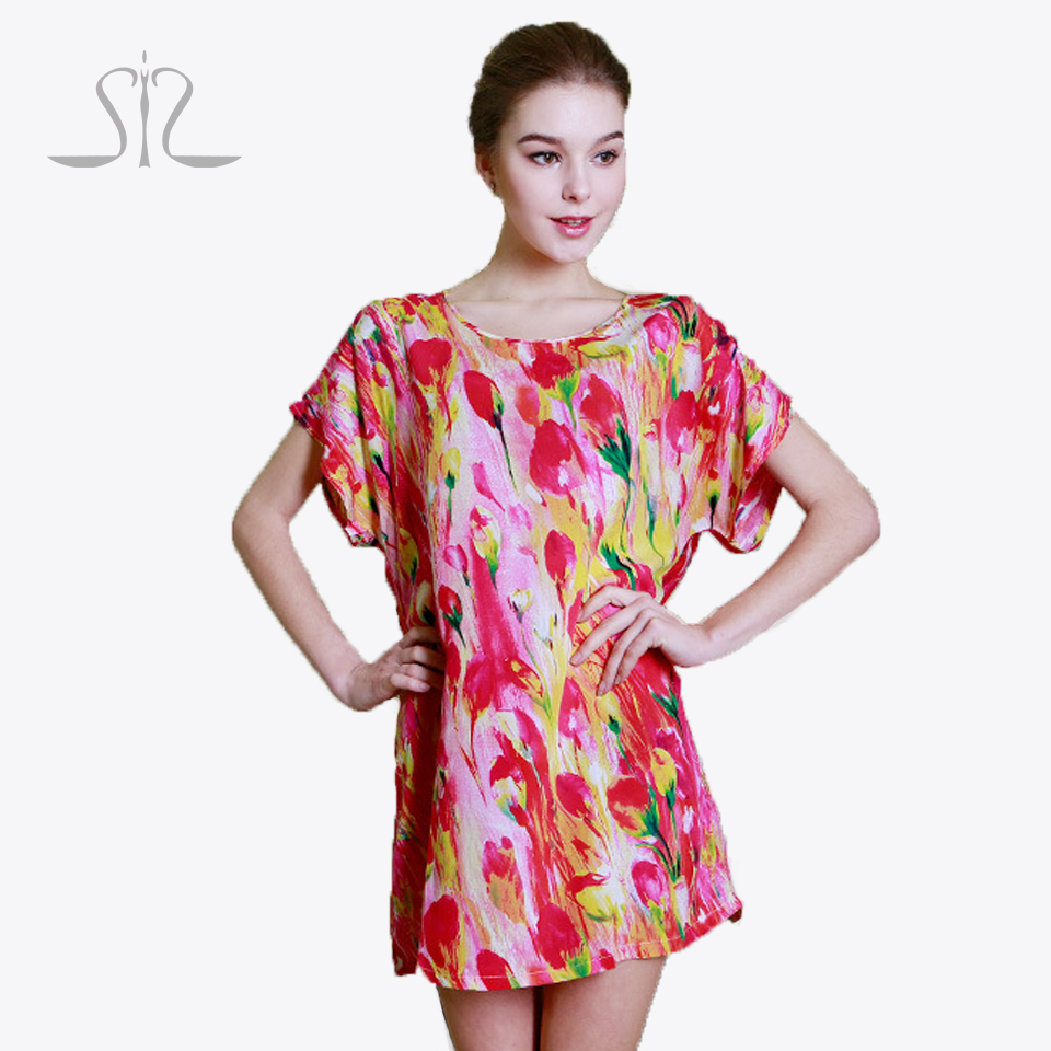 2016 summer style cotton women nightgowns clothing Home Suit lady spring loose Nightgown Hot ladies women sleepwear M7701-2#YT(China (Mainland))