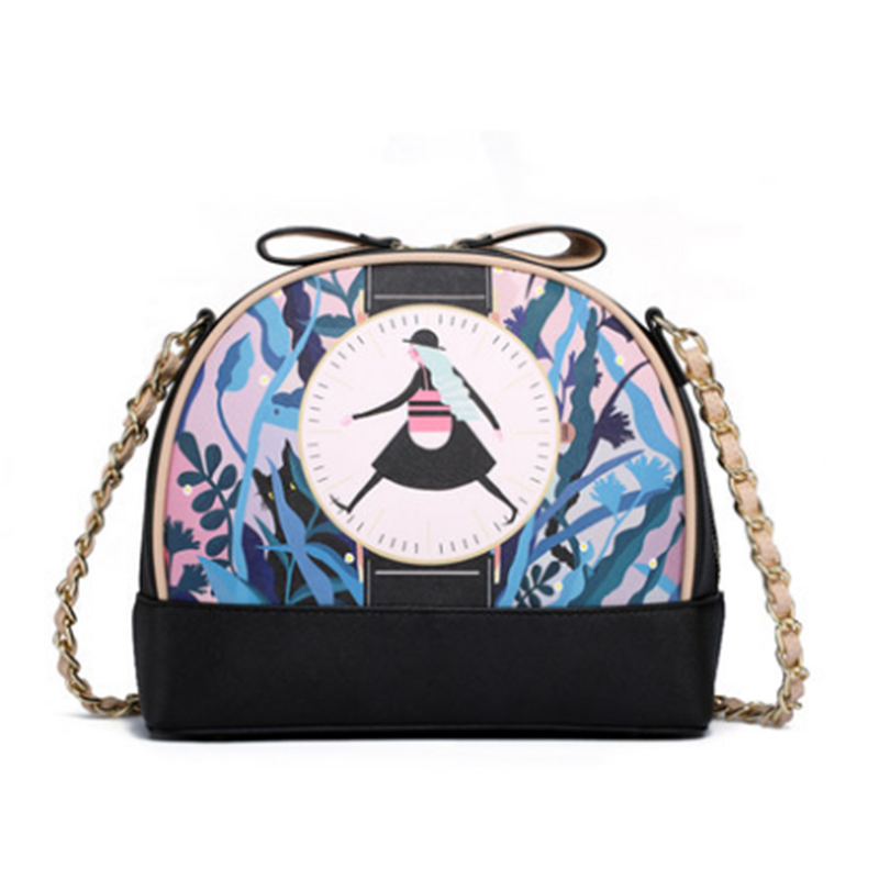 New Brand Design Ladies Mini Messenger Bag Fashion Saddle Crossbody Bags PU Black Celebrity Handbag BS697(China (Mainland))