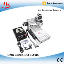 No taxes to Russia CNC 3020Z-DQ engraving machine, CNC3020 drilling milling machine. mini CNC 3020 router for woods PCB plastic(China (Mainland))