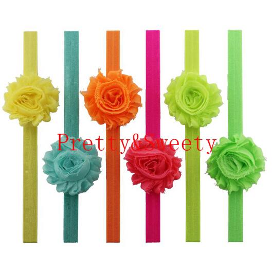 18 Colors Newborn Baby Headband Trendy Princess Girl Flower Boho Elastic Hair Accessories Drop Shipping Chic Photos Headwrap(China (Mainland))