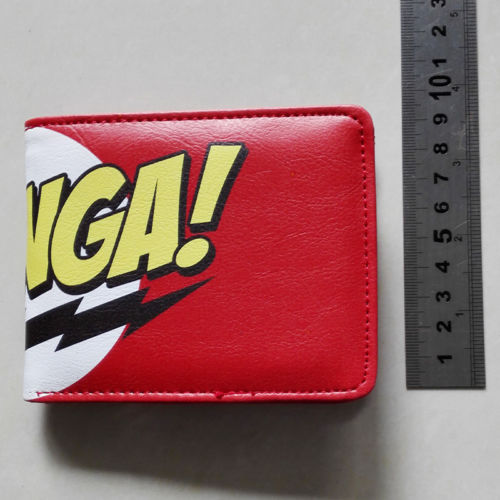 CBS The Big Bang Theory TBBT Logo 01 wallets Purse Red 12cm Leather New Hot W118