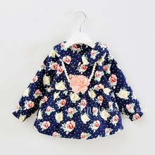 Autumn Warm Winter Long Sleeved baby girls kids vintage flora plus velvet thicken dresses, princess infant Dress S2271(China (Mainland))