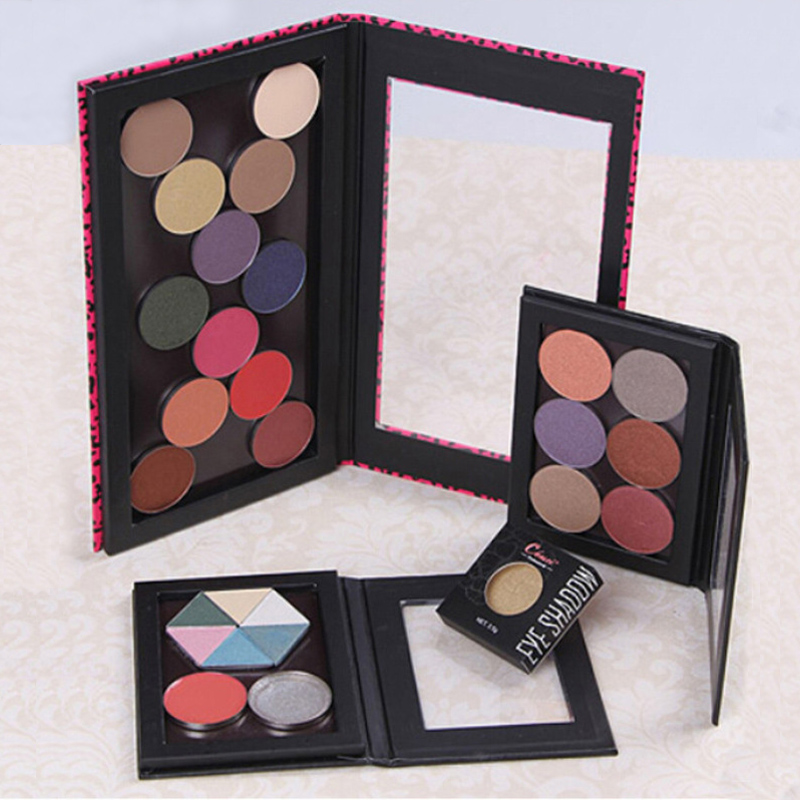 Pink Leopard Magnetic Eyeshadow Palette,Crocodile Private Label Blank Pattern,Professional Naked Makeup Stroage,Free Shipping!(China (Mainland))