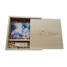 Custom Photo Unique Album Maple Wood Box USB 3.0 Memory Pendrive Photography Wedding Studio LOGO Gift (box 170*170*35 mm)(China (Mainland))