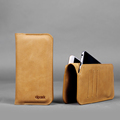 Natural Real Genuine Leather Case for iPhone 7 with Card Slot for iPhone 7 plus Wallet