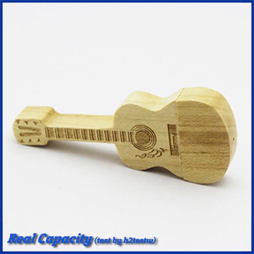 free shipping funny mini pendrive wooden guitar usb flash drive 16gb usb stick 2gb 4gb 8gb 16gb 32gb pen drive music gift(China (Mainland))