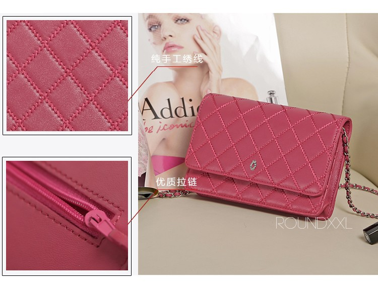 Free Shipping Genuine Leather Women Brand Wallet Shoulder Bags