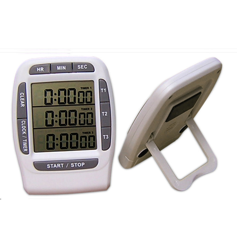 Free shipping, digital kitchen timer, three channel liquid crystal kitchen timer(China (Mainland))