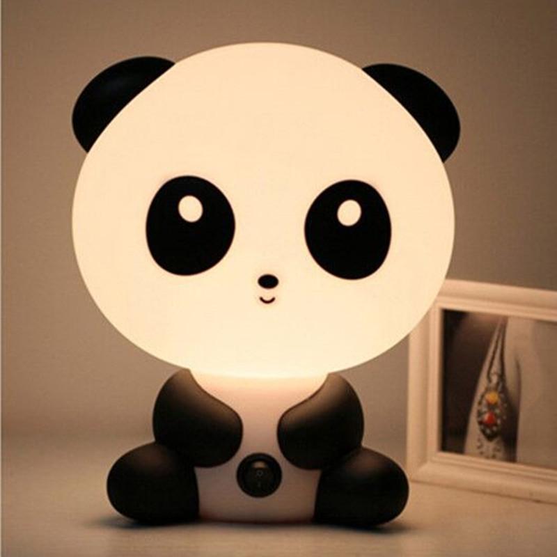 1x LED Cartoon Night Sleeping Light Kids Bed Lamp Night Sleeping Lamp Best for Gifts Panda rabbit pig boys dogs bears(China (Mainland))
