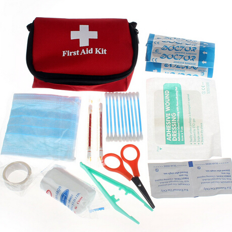 New Wilderness Survival Travel Camping Medical Emergency First Aid Kit Treatment Pack Set Survival Bag Home(China (Mainland))