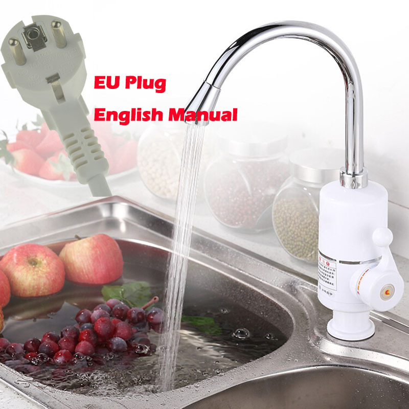 Гаджет  Instantaneous Water Heater Instant Hot Water Faucet Instant Electric Faucet Water Heater Electric Tap for Kitchen and Bathroom  None Бытовая техника