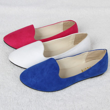 M.Y. Free shipping 12 colors Upgrade qualit women's flats shoes  suede ladies ballet shoe casual mother shoes FS004 A-8(China (Mainland))