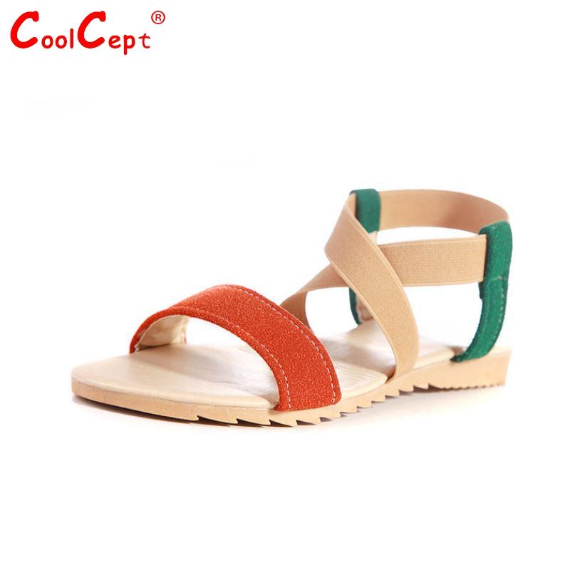 Women Flat Sandals Fashion Bohemia Mix Color Shoes Woman Cross Strap Gladiator Flats Sandalias Lady Footwear Size 34-43 PA00340(China (Mainland))