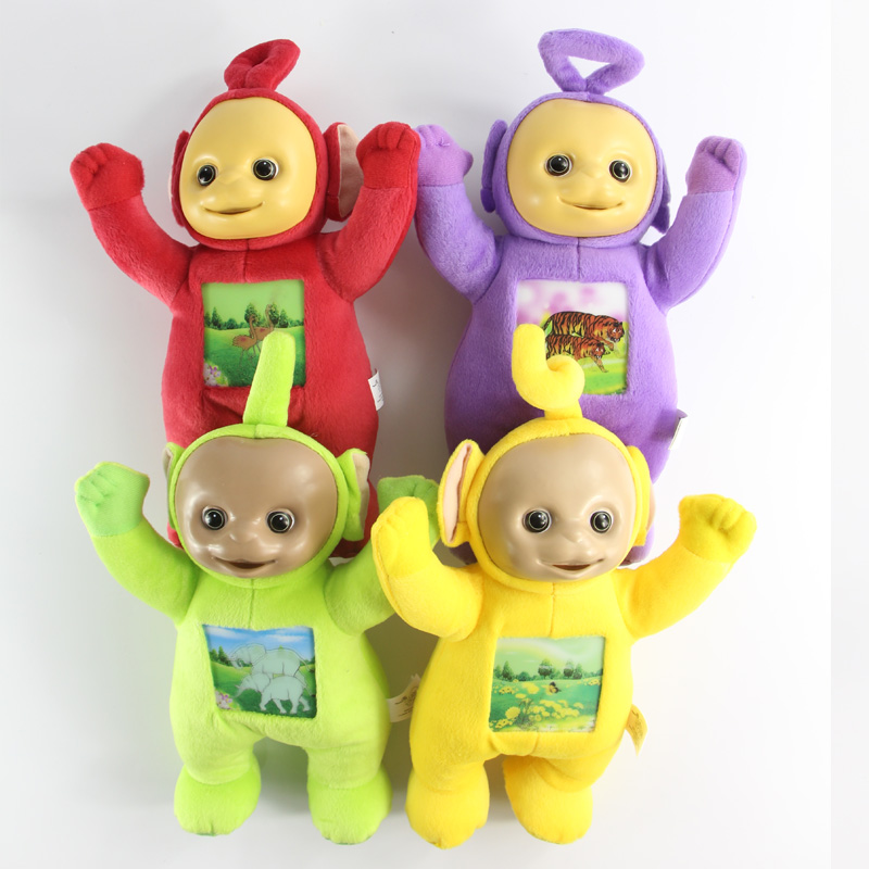 4pcs/lot Kids Teletubbies Baby Cartoon Movie Plush Toys 33cm Size with 3D Face(China (Mainland))