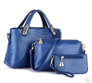 Zehua new European and American crocodile bag three-piece picture pack leisure wild fashion handbags buy Yide three(China (Mainland))
