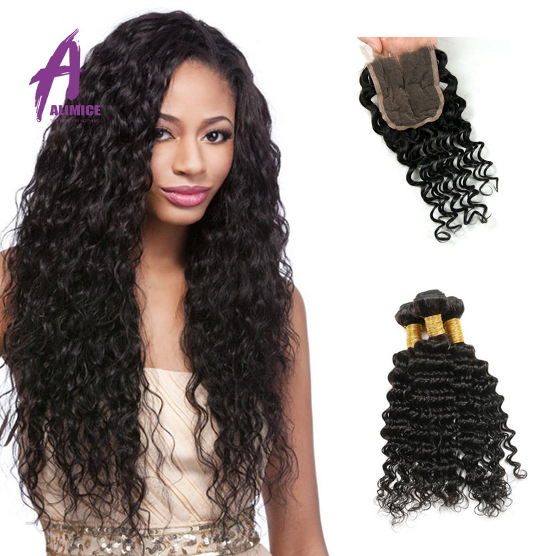 Здесь можно купить  Grade 8a Malaysain Deep Wave 4 Bundles With Closure Unprocessed Human Hair Weft Malaysia Deep Wave Clsoure Xuchang Fabous Hair  Волосы и аксессуары