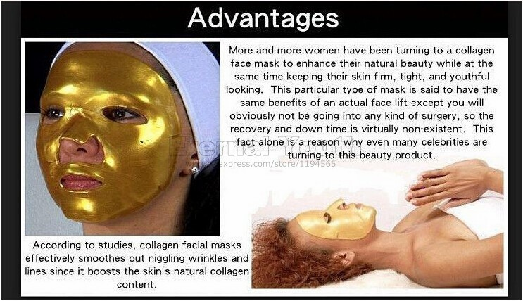 24K GOLD Mask Active Face Mask Powder Brightening Luxury Spa Anti Aging Wrinkle Treatment  Beauty Care 600g