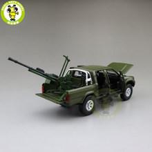 1/32 Jackiekim Hilux Truk dengan Anti-Tank Gun Diecast Logam Model Mobil Mainan Anak Anak Suara Pencahayaan hadiah(China)
