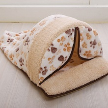 Hot Sale Pet Products Warm Soft Cat Dog House Pet Sleeping Bag Lovely Dog Kennel Dog Bed Puppy Kitten Pet Nest(China (Mainland))