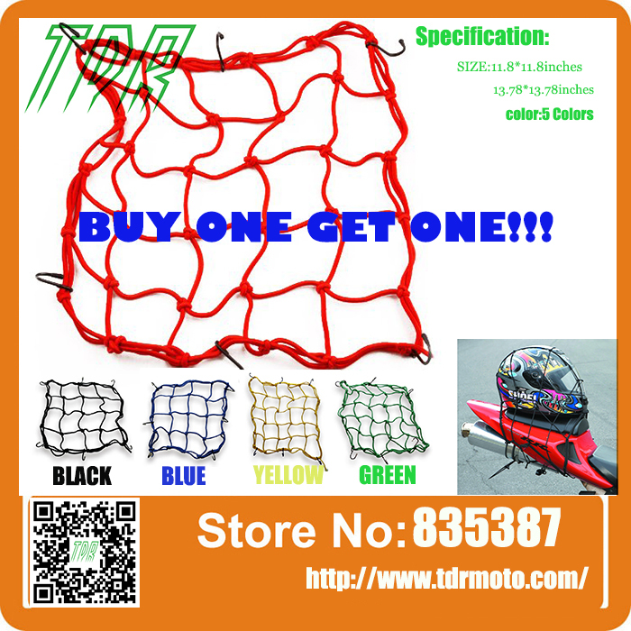 Buy One Get One ! Motorcycle 6 Hooks Hold down Fuel Tank Luggage Net Mesh Web Bungee Black H1E1(China (Mainland))