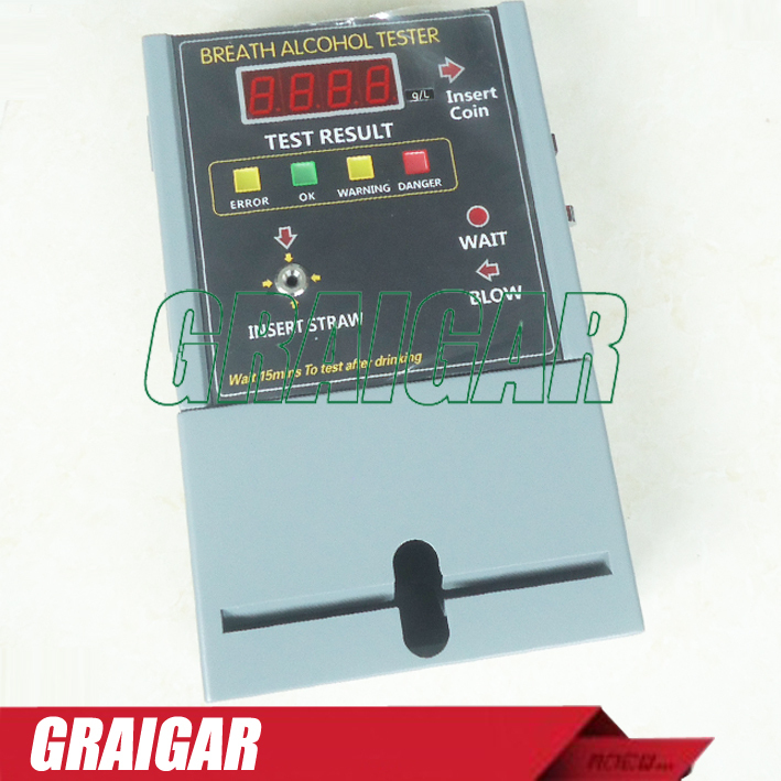NEW Coin-operated Breath Alcohol Tester AT319 Breath sampling time about 5 seconds continuous breath(China (Mainland))