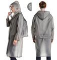 Long Raincoat EVA Thick Rainwear Universal Poncho Waterproof Hiking Tour Hooded Rain Coat Include Schoolbag Position