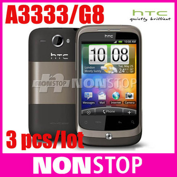 3PCS/LOT Original HTC Wildfire Google G8 A3333 Android GPS Smrtphone Unlocked Cell Phone Free Shipping with EMS/ DHL