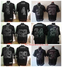 100% Stitiched,Oakland Raiders Amari Cooper Khalil Mack Bo Jackson Charles Woodson Darren McFadden all black for mens(China (Mainland))
